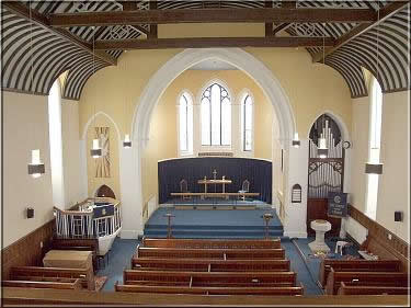 The Methodist Church, Castletown, showing the interior after new decoration June 2004